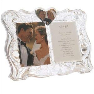 Lenox Crystal Sentiments Traditions Double Frame